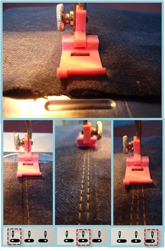pie, prensatela coser en doble nivel x 2, maquina domestica