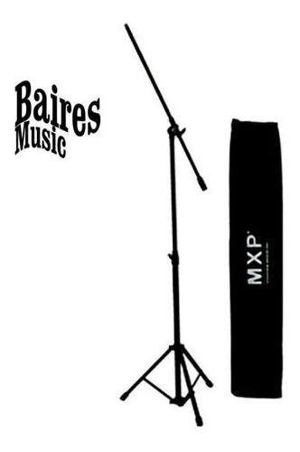 pie soporte de microfono jirafa telescopico mxp + funda