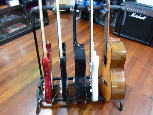 pie soporte para 5 cinco guitarra bajo plegable metalico