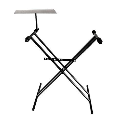 pie teclado mesa tijera doble c/ soporte notebook pro stands