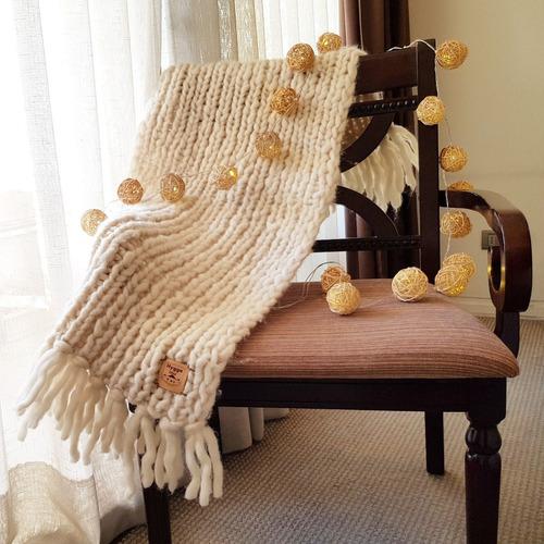 piecera de lana de oveja para cama 1 plaza