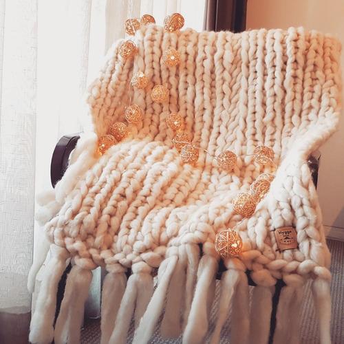 piecera de lana de oveja para cama king