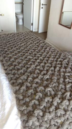 pieceras para cama de dos plazas 100%lana de oveja