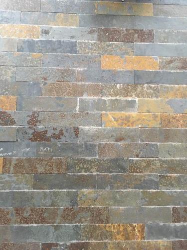 piedra ardosia pizarra óxido 15 x 60 cm piso, revestimiento