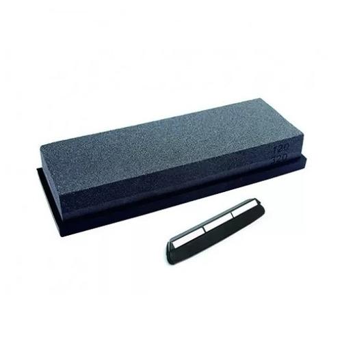 piedra de afilar cuchillos wonmesser wetstone 320/120 guia