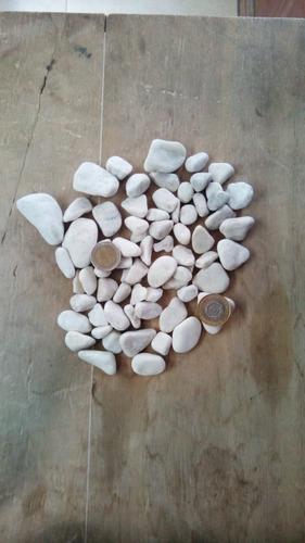 piedra de marmol blanca rodado chico