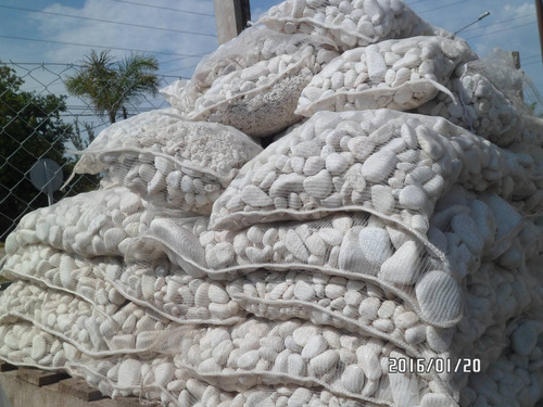 piedra de marmol blanca rodado mediano bolsa de 20 kg