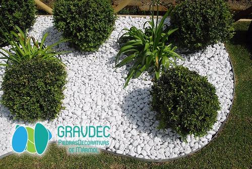 Piedra de m rmol blanco para decorar jardines solo mayoreo en mercado libre - Idee giardino senza erba ...