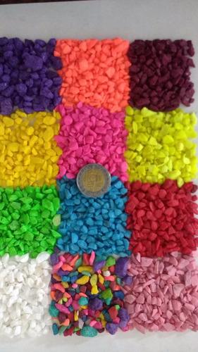 piedra decorativa de colores-grava-pecera-adorno suculentas
