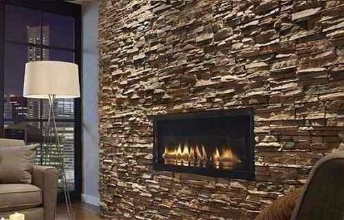 Piedra decorativa paredes chimeneas fachaleta ba os sala - Salones con piedra decorativa ...