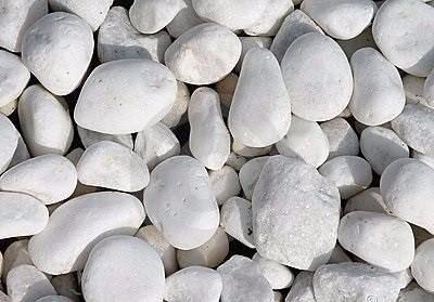 Piedra Decorativa Redonda Blanca De 25kg Para Jardines Envio 490 - Piedra-decorativa-jardin