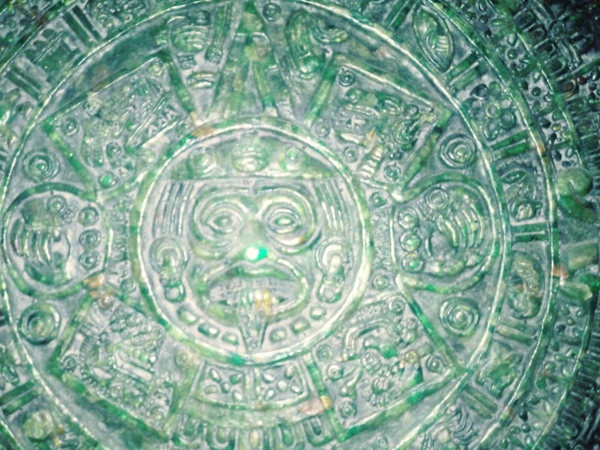 Piedra Del Sol Calendario Azteca Original De Onix 150000 En