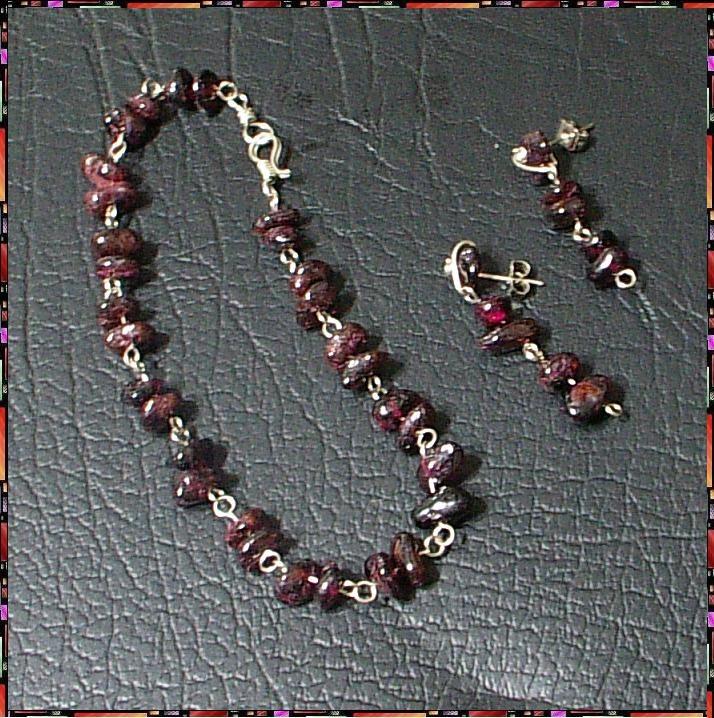 d881bc89578d Piedra Granate Combo Collar
