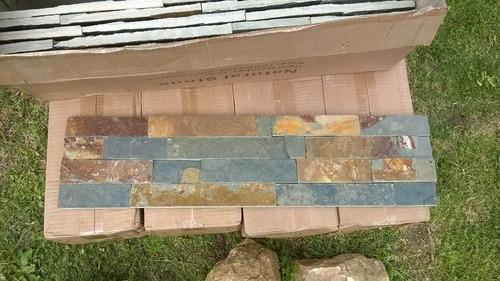 Piedra gris con xido en paneles de 15 x 60 cm u s 26 00 - Paneles de piedra artificial ...