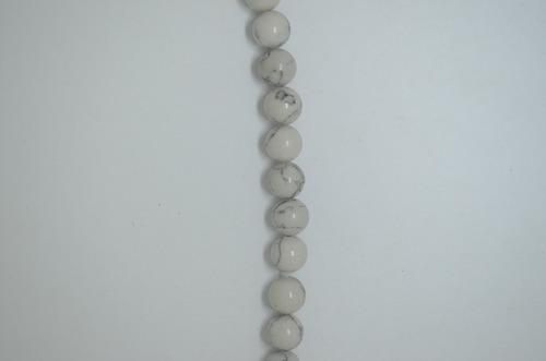 piedra howlita 10 mm para elaborar bisuteria ref 2859