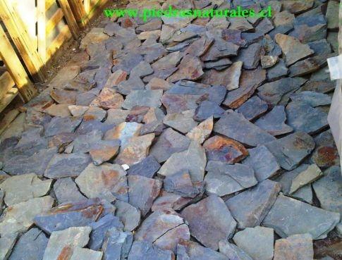 Piedra laja en mercado libre for Jardines en piedra natural