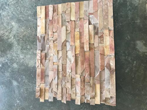 piedra laja color durazno para fachadas interiores/exteriore