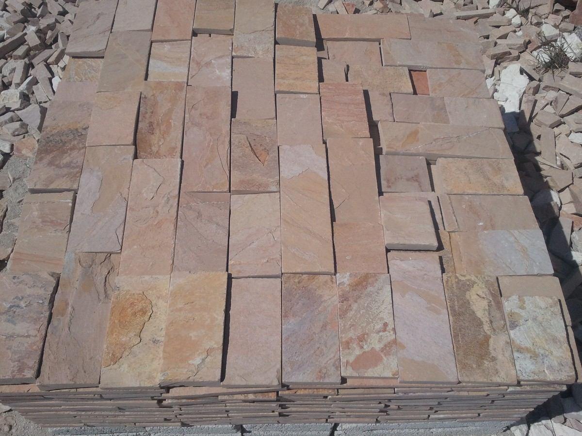 Piedra laja de cantera para fachada cascada salmon - Piedra rustica para fachadas ...