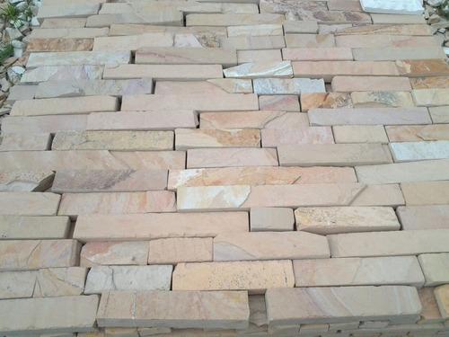 piedra laja de cantera para fachada (cascada salmon)