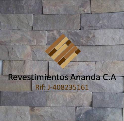 piedra laja formateada spacatto nacional verde gris 10x20
