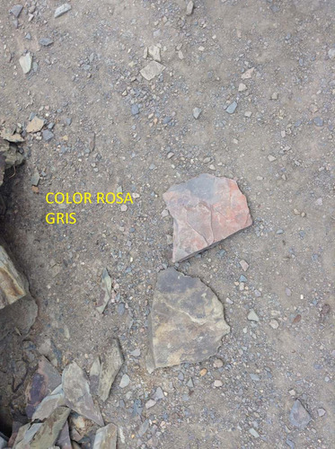 piedra laja formateadas rosa gris  formato 5 x 15