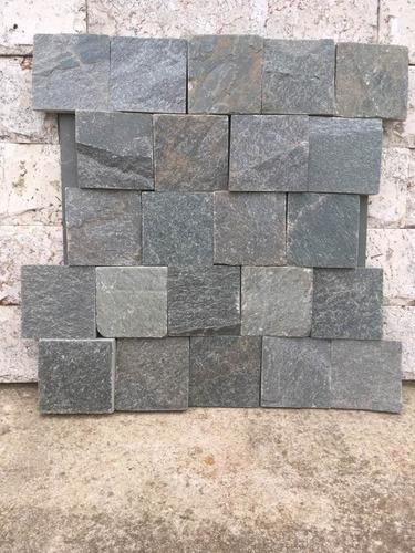piedra laja gris plomo 7 x 7 cm piso y revestimiento