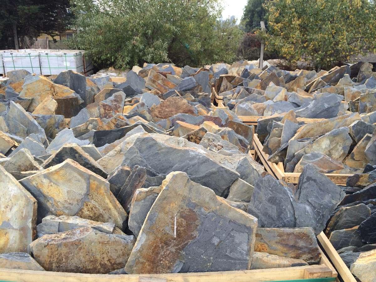 Piedra laja multicolor desde m2 en for Lajas de piedra natural
