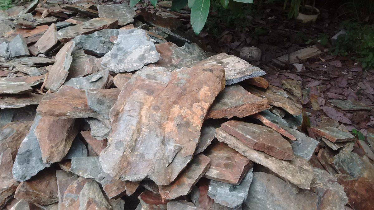 Piedra laja natural 5x fachaleta caf tebaco en - Como colocar piedra natural ...