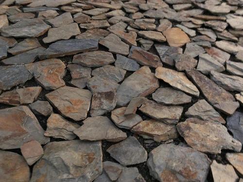 piedra laja oxidada multicolor buenos tamaños
