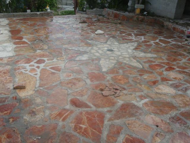 Piedra laja roja tlayua para piso en mercado libre for Pisos para cochera