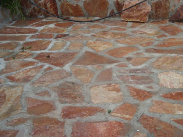 Piedra laja roja tlayua para piso en mercado libre for Pisos de piedra para terrazas