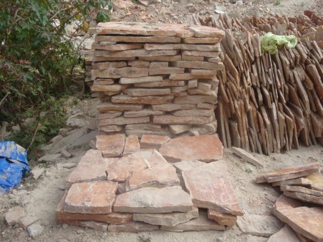 piedra laja roja tlayua para piso en mercado libre