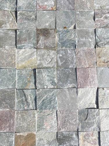 piedra laja verde 7 x 7 cm revestimiento pared y piso