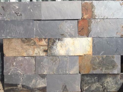 piedra natural laja gris con óxido 15 cm x largos variables