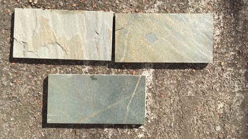 piedra natural laja verde 15 x 30 cm piso y revestimiento