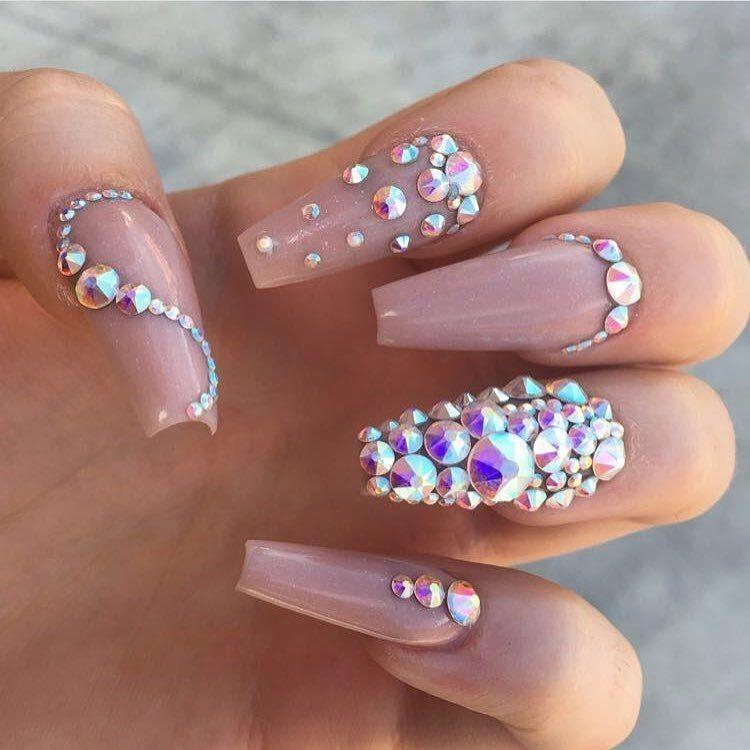 Piedra Para Uñas Cristal Mc Nails 4 Tamaños 6810 Y 16