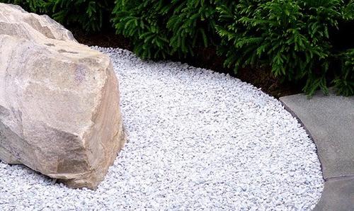piedra partida gris, blanca gravilla y de cimiento p jardín