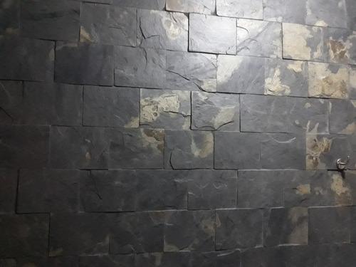 piedra pizarra,  laja formateada 20x20cm para pisos y pared