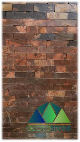 piedra pizarra natural tipa laja formateada (chocolate)