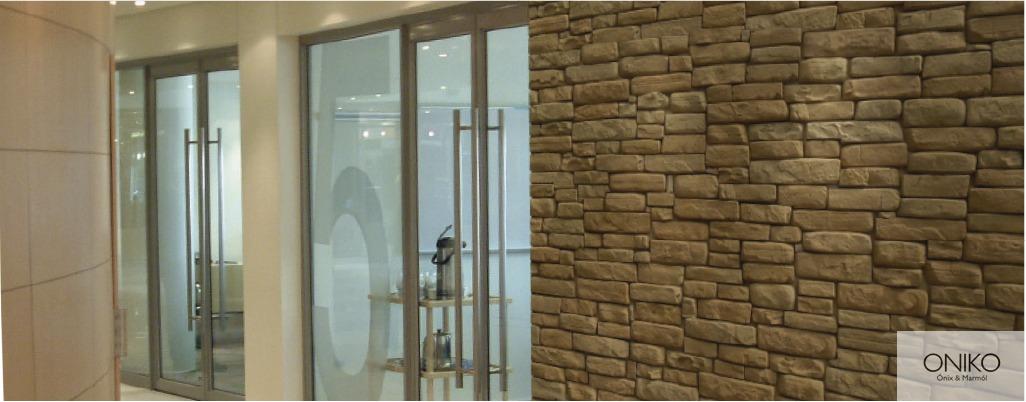 Piedra pretil muros fachadas recubrimientos - Muros decorativos para interiores ...