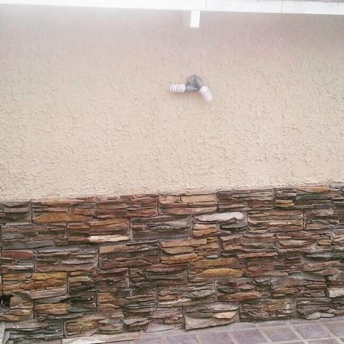 piedra taco laja muro cascada revestimiento tipo castillo