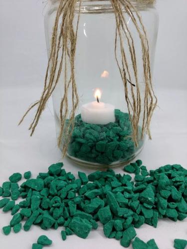 piedra verde esmeralda 1 kg. n°3 ideal: acuario - jardín