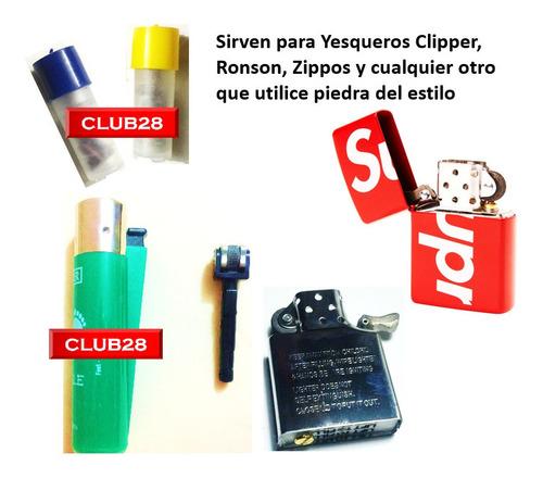 piedras clipper encendedor yesca gas butano  zippo  bencina