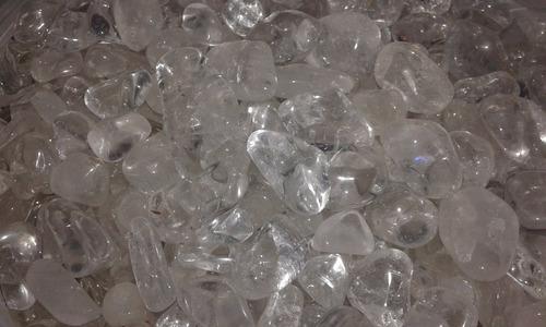 piedras cristales  de cuarzo  roladas calidad premium 250 g