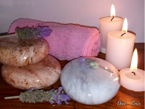 piedras de masaje de onix y mármol
