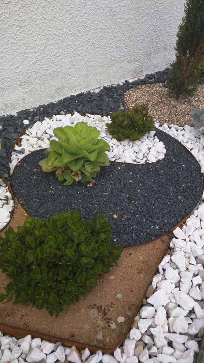piedras decorativas de colores jardines chimeneas