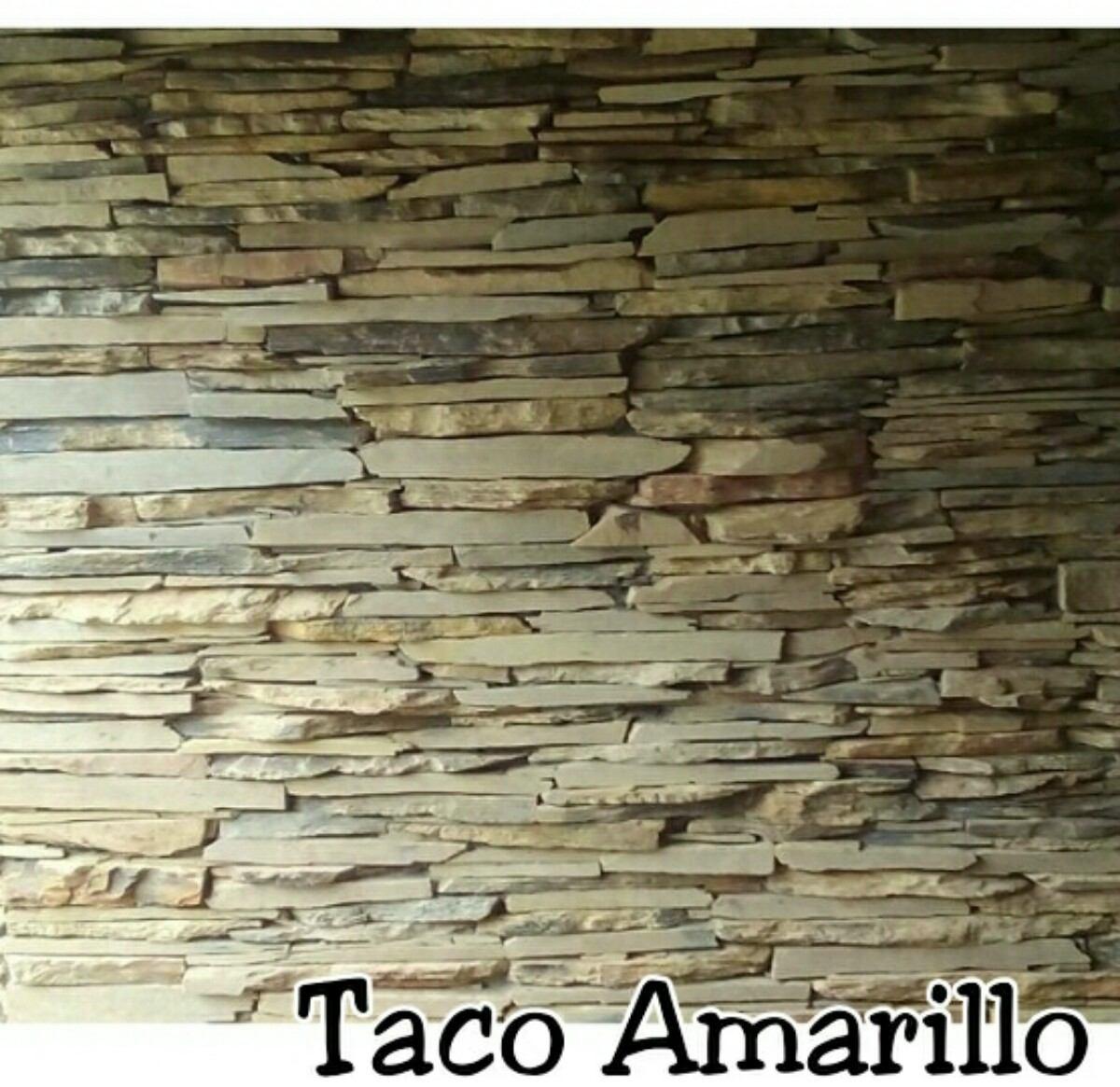 Piedras decorativas tipo taco para revestir paredes y - Tipos de muros de piedra ...