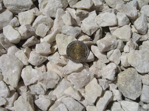 piedras molidas de marmol x50 kg (blancas) jardin, peceras