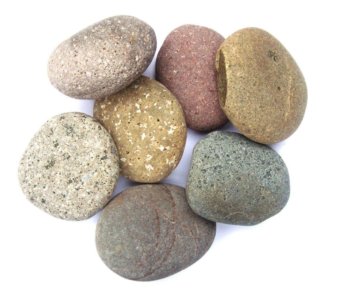 Piedras para masajes planas y guresas de colores importada en mercado libre - Venta de piedras para jardin ...