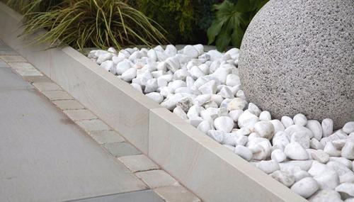 piedras piedra mrmol redonda decorativa jardn blanca 20 kg - Piedra Decorativa Jardin